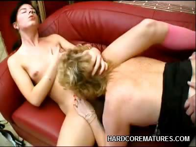 Porn Tube of Mature Babe Martha Sharing A Cock
