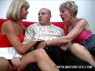 Porn Tube of Older Women Threesome