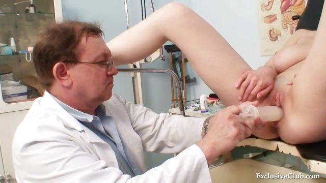 Porn Tube of Busty Babe Gyno Exam By Filthy Elder Doctor