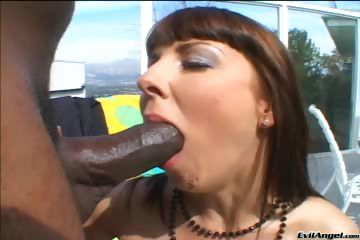 Porno Video of Interracial,hardcore,deep Throat,blowjob,brunette,outdoor
