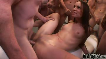 Porno Video of 50 Guy Cream Pie #08