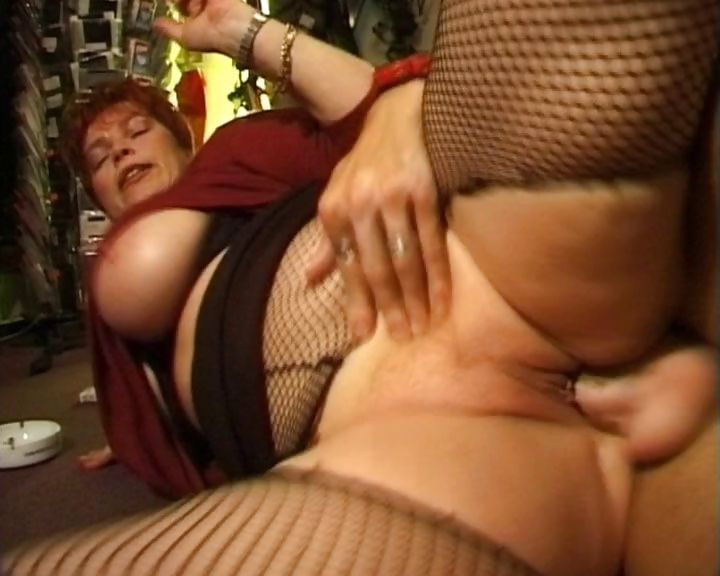 Sex Movie of Busty Mature Redhead Has A Smoke While Getting Drilled And Sucking