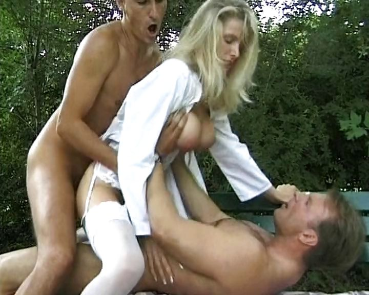 Porno Video of Blonde Meets Two Dudes, Blows Them, Gets Drilled With A Dp And Messy Facial