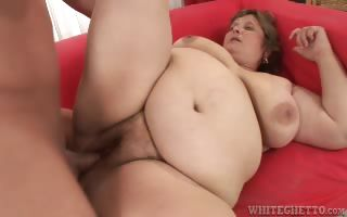 Porno Video of Fat Brunette Granny Slut Gets Her Hairy Pussy Fucked Hard!