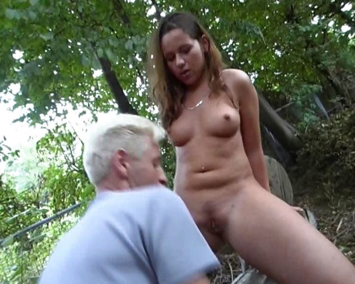 Porn Tube of On The Backyard Bench An Old Guy Fucks An Exotic Young Slut