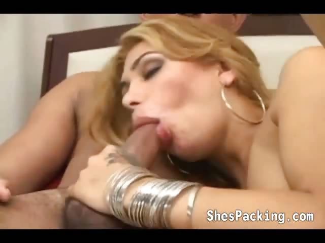 Porn Tube of Nasty Shemale Gets Nailed On Bed