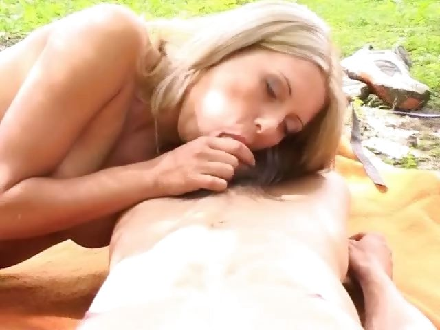 Porn Tube of Slim Polish Babe Gets Her Juicy Clam Eaten Out In The Woods