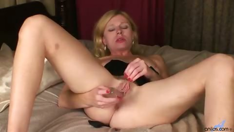 Porno Video of Petite Milf Clit Slapping Dildo Fuck