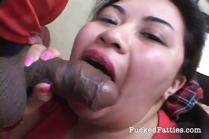 Porn Tube of Hot Chubby Asian Girl Takes Two Big Cocks