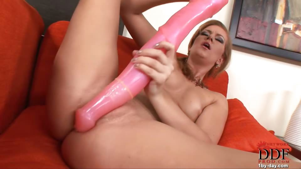 Porno Video of Charlie Plays With A Huge Toy