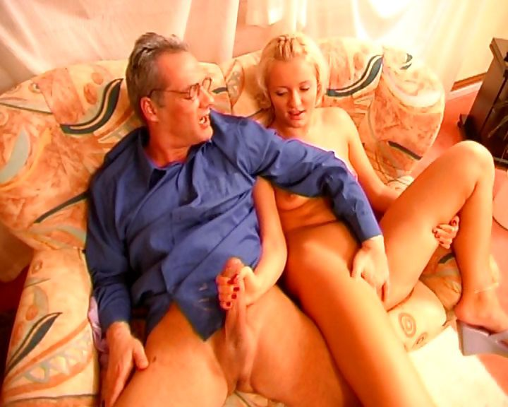 Porn Tube of Blonde Gives This Old Guy Some Head And Then Gets Ass Banged