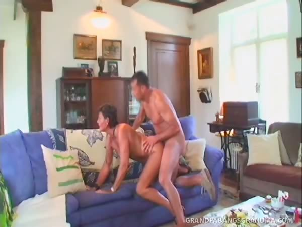 Porno Video of Grey-haired Granny Sofie Gets A Double Dipping Of Big Cock