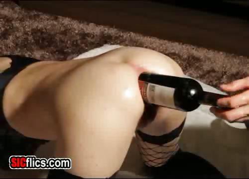 Porn Tube of Huge Anal Bottle Fuck