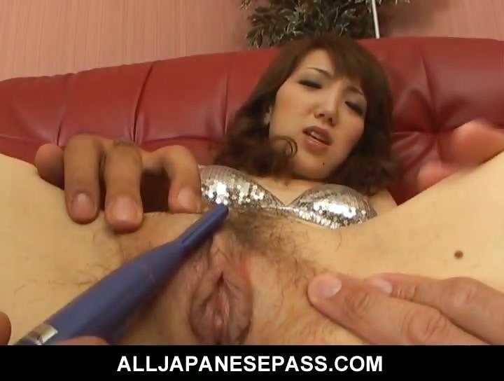 Porno Video of Japanese Milf Ai In A Silver Bikini Smoked