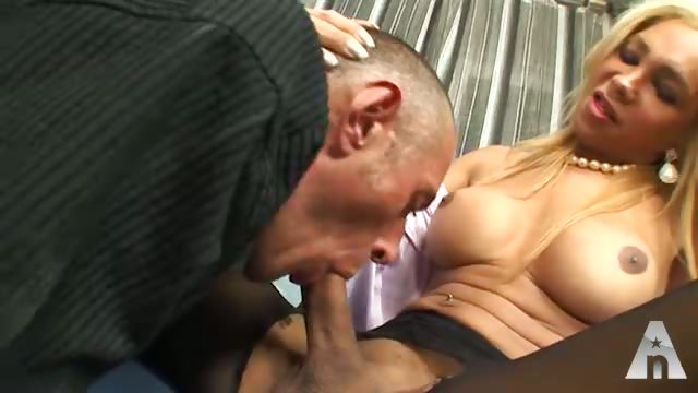 Porno Video of Two Big Cocked Blonde Shemales Fuck A Poor Guy Even If Seems He Does It With Pleasure...