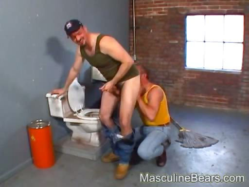 Porn Tube of Horny Janitor Caught Fucking In Public Toilet