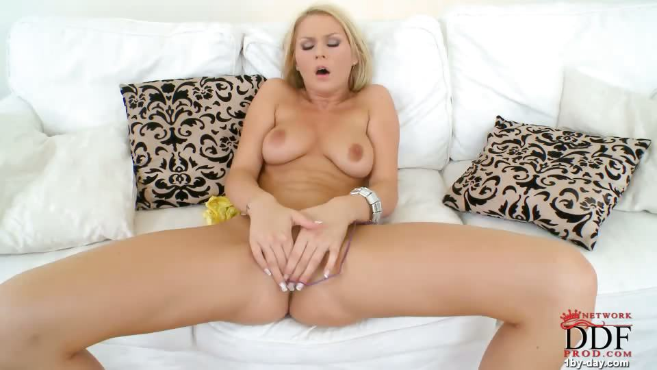 Porno Video of Blonde Babe Antonia Plays With Her New Remote-controlled Vibrating Egg. She Peels Out Of Her Purple Tube Top And Frilly Miniskirt Throughout The Pictorial And Video As She Gets Comfortable With Her Toy, Sucking On The Thumb-sized Plastic Egg And Rubbing I
