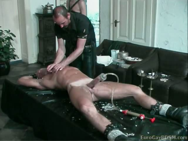 Porn Tube of Blond Hunk Gets His Cock Pumped And Tortured With Hot Candle Wax