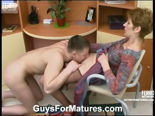 Porn Tube of Kinky Mom Lowers Her Hose A Little To Free Her Muff Aching For Hard Dicking