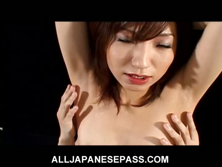 Sex Movie of Airi Nakajima Is One Horny Wild Mature Honey In Red Latex