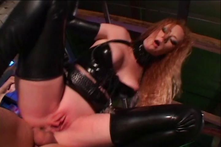 Porn Tube of Naughty Redhead With Long Hair And Sexy Latex Cop Outfit Gets Banged In The Ass By The Perpetrator