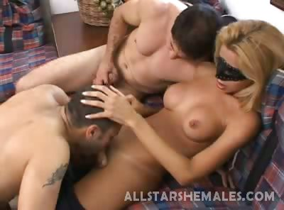 Porn Tube of Hot Shemale Threesome