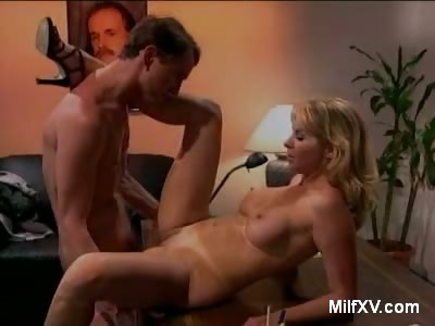 Porn Tube of Pretty Blonde Milf Does Striptease