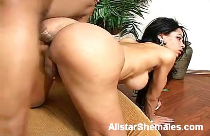 Porn Tube of Izabely Gets Her Tight Shemale Ass Fucked