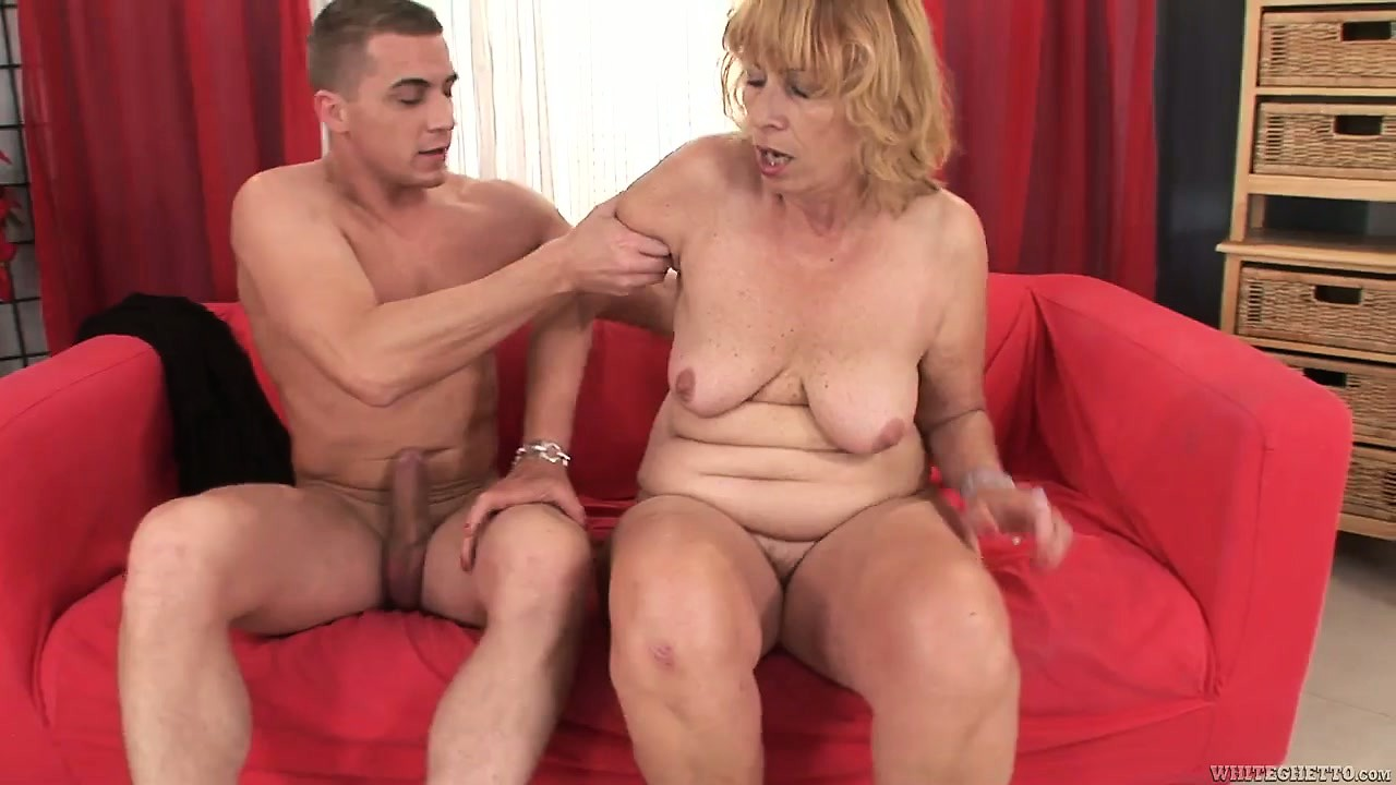 Porno Video of Grandma Gets A Younger Cock Pumping Away At Her Hairy Snatch