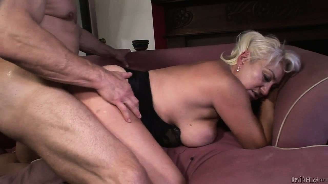 Porno Video of This Horny Dude Bends Granny Over Like A Bitch And Fucks Her Hard