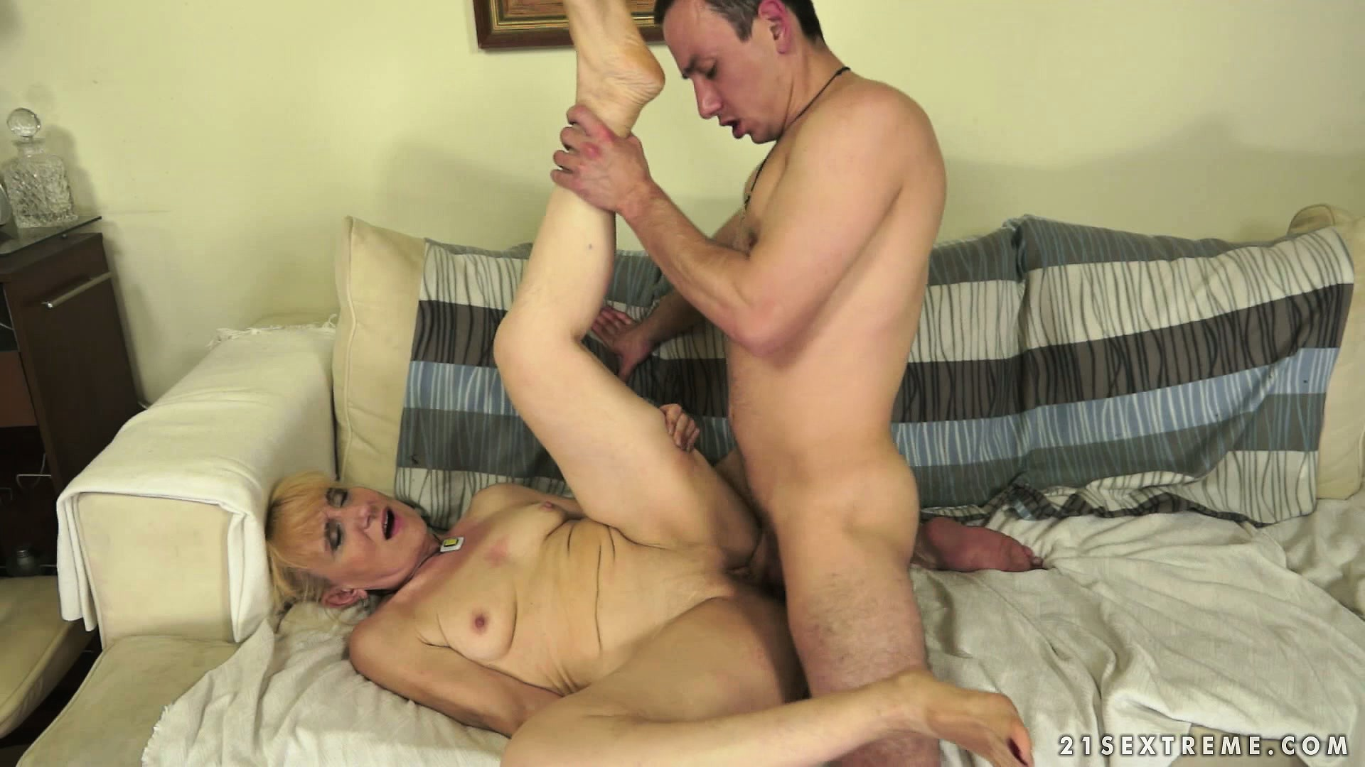 Porno Video of He's Banging His Special Old Lady And She Licks His Ass And Drinks His Cum