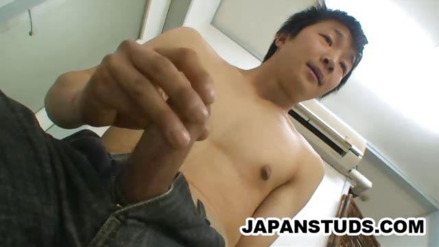 Porn Tube of Stud Japanese Jerking Off