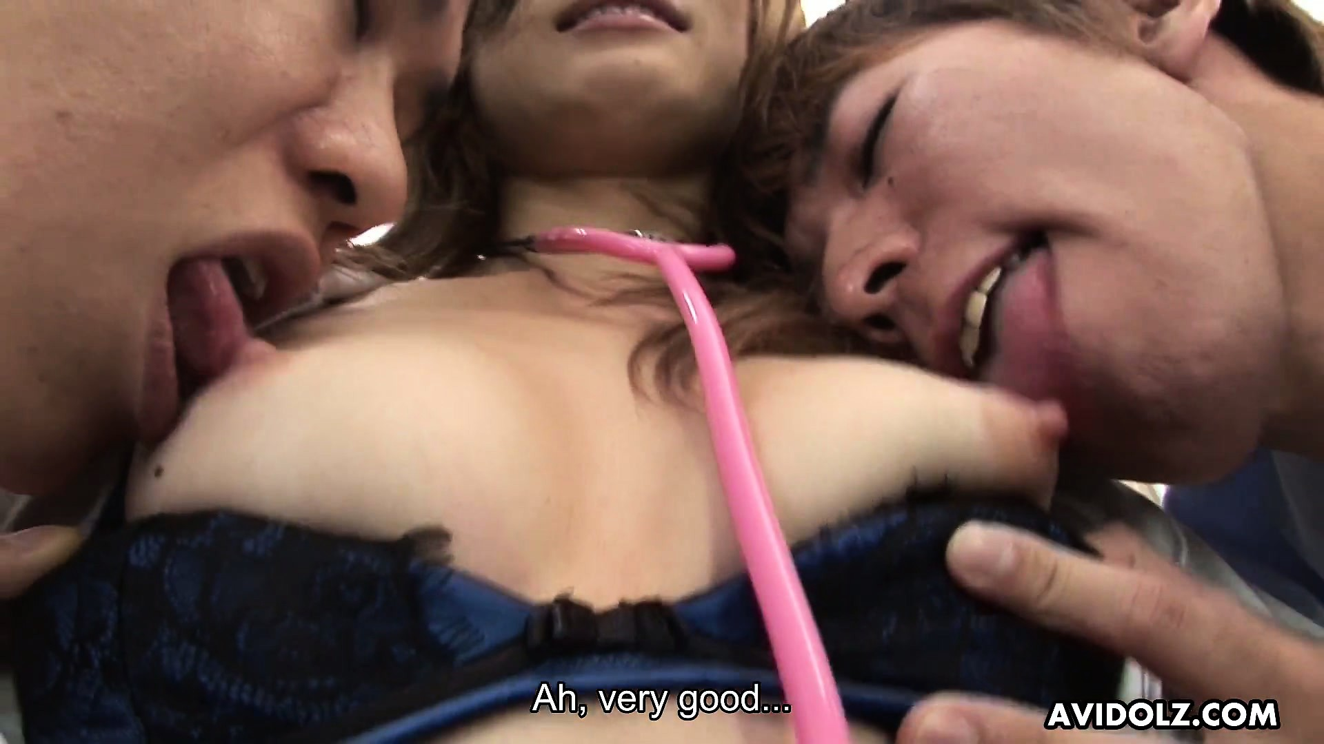 Porno Video of Attractive Asian Nurse With Tiny Tits Has Two Guys Ready To Fulfill Her Desires
