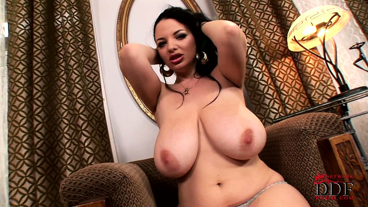 Porn Tube of Attractive Brunette Joanna Puts On Display Her Big Natural Tits And Sexy Round Ass