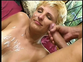 blonde topanga clark chews boner while ass fucking and gets a messy load