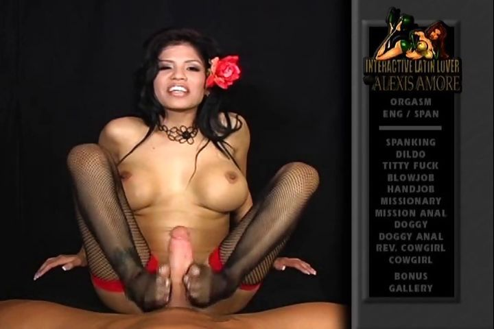 Porno Video of Latina Alexis Amore Gives A Sexy Footjob In Nylon Stockings