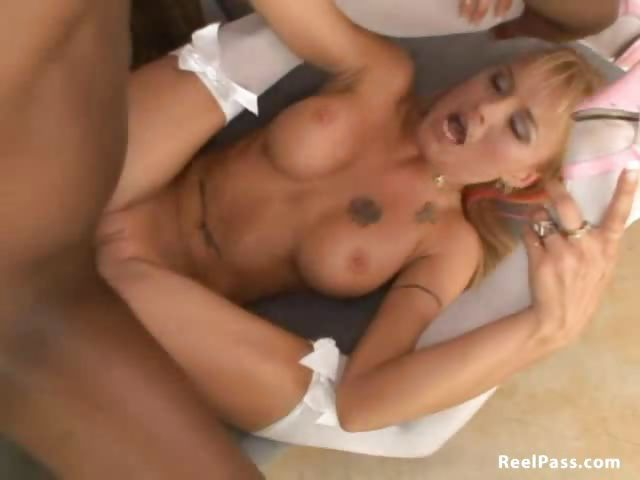 Porno Video of Barbie Baja Screams As She Is Deeply Penetrated By A Big Black Cock