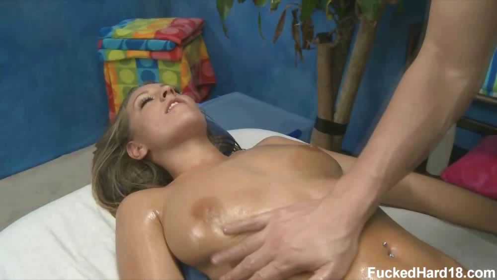 Sex Movie of Lizzy London Seduced And Fucked Hard After Her Free Massage!