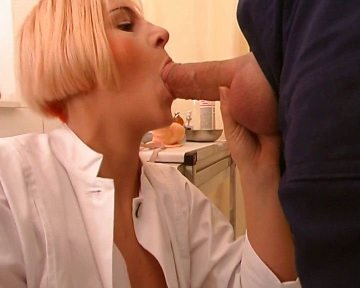 Porno Video of Slutty Dr Performs A Prostate Exam And Jacks Off Her Patient