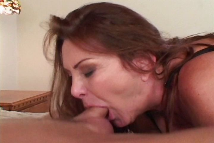 Porno Video of Mature Brunette Shows His Hard Young Cock A Proper Sucking And Fucking