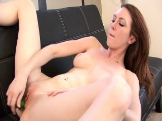 sexy brunette megan loxx uses her dildo and vibrator on her twat