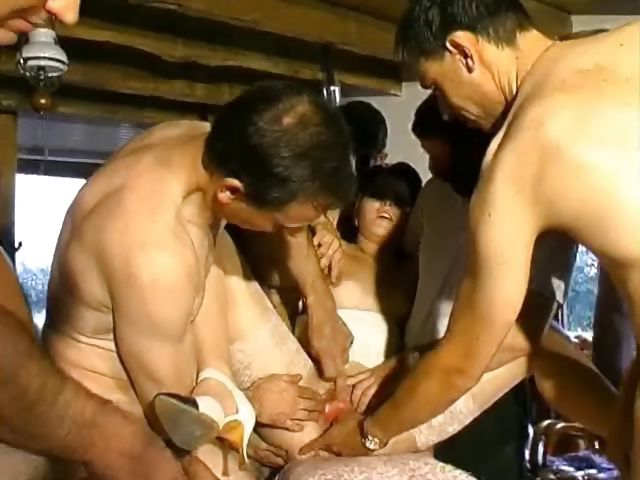 Porno Video of Redhead In An Old Guy, Young Guy, Gangbang Gets Nailed And Sucks For Cum