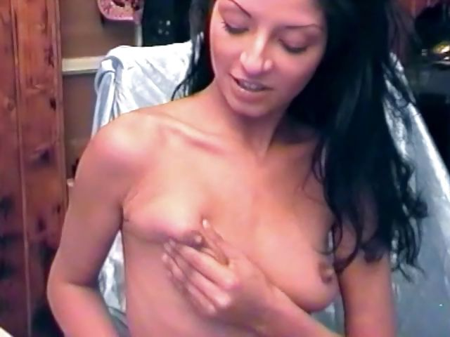 Porno Video of Small-titted Skinny Young Hottie Slut Masturbates With A Dildo
