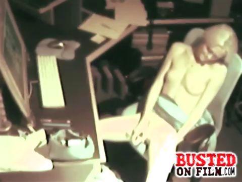 Porno Video of Spy At Desk Masturbating