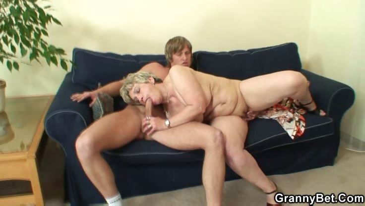 Porno Video of Granny Gets A Hot Young Man