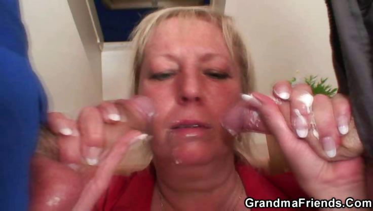Porn Tube of Repairmen Double Team The Hot Granny