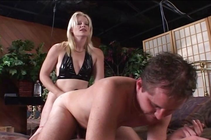 Porn Tube of Blond Housewife Arms Herself With A Strap-on And Fucks Her Boyfriend In The Ass