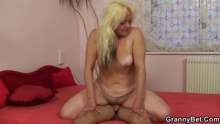 Porno Video of Lusty Granny Brought Home For Sex