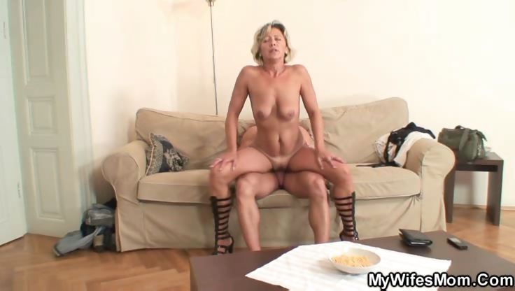 Porno Video of Naughty Mature Takes Him