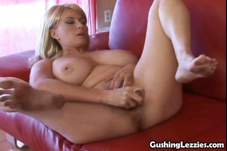 Porn Tube of A Big Vibrator In Her Tight Squirting Hole Makes This Lesbian Shoot Cum
